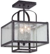 Minka Lavery Camden Square 4-Light Semi-Flush Ceiling Fixture in Charcoal
