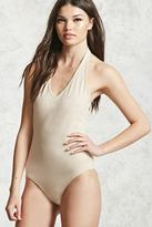 Forever 21 Fitted Halter Bodysuit