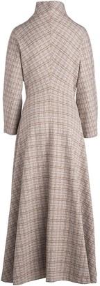 Rosetta Getty Check-Pattern High-Neck Dress