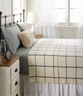 L.L. Bean Washable Wool Blanket, Windowpane