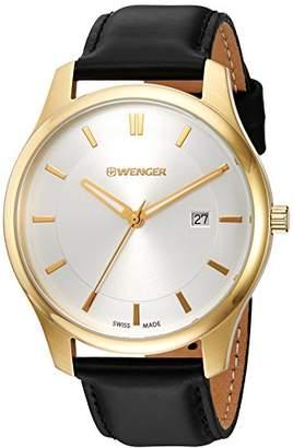 Wenger Men's City Classic Swiss-Quartz Watch with Leather Calfskin Strap