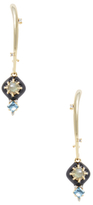 Alexis Bittar Elements Arched Kidney Wire Satellite Drop Earrings