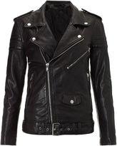BLK DNM Black Leather Motorcycle Jacket