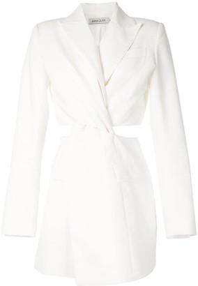 Anna Quan Chiara twist-detail blazer dress