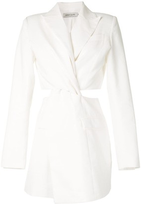 ANNA QUAN Chiara twist-detail blazer dress