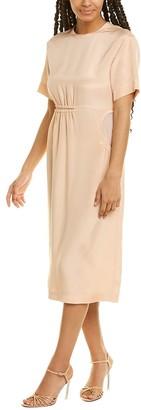 Sportmax Geranio Silk Midi Dress