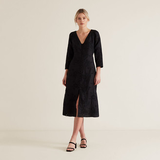Seed Heritage Oct Broderie Tie Back Dress