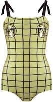 Adriana Degreas - grid swimsuit - women - Polyamide/Spandex/Elastane - P