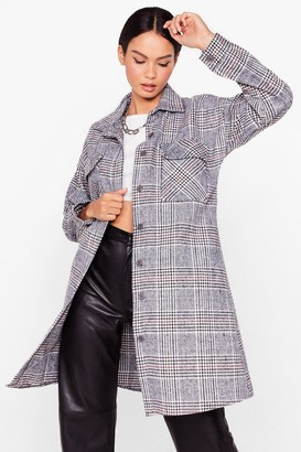 Nasty Gal Womens Last Time We Checked Longline Jacket - Black - One Size