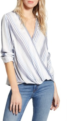 Splendid Holistay Double Cloth Surplice Blouse