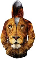 RAISEVERN Mens Funny Food Hoodie Fashion Casual Zip Up Hooded Pullover Sweater