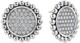 Lagos Caviar Spark Diamond Circle Earrings