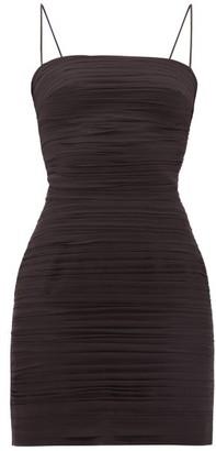Rasario Ruched Silk-chiffon Mini Dress - Womens - Black