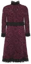 Dolce & Gabbana Cotton-blend Corded Lace Mini Dress