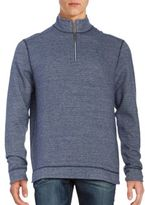 Tommy Bahama Mixed Doubles Reversible Quarter-Zip Pullover