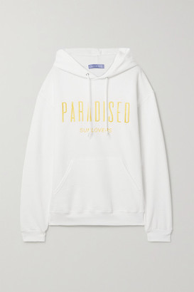 PARADISED Sunlovers Embroidered Cotton-blend Jersey Hoodie - White
