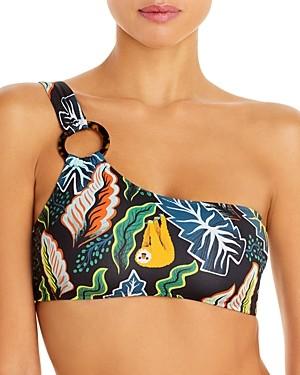 Solid & Striped The Desi Printed Asymmetric Bikini Top