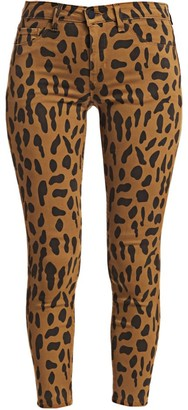 L'Agence Margot High-Rise Ankle Skinny Animal-Print Jeans