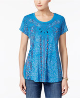 Style&Co. Style & Co Graphic Embroidered Top, Only at Macy's