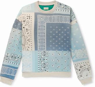 KAPITAL Oversized Patchwork Bandana-Print Cotton-Jersey And Quilted Satin Sweatshirt