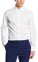 Seidensticker Men's Slim Fit Classic Long Sleeve Business Shirt - White -