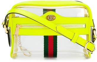 Gucci transparent panel crossbody bag