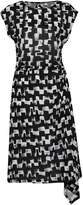 Great Plains Cubist Wave Asymetric Dress