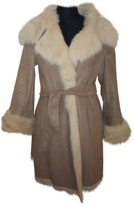 Armani Jeans Beige Faux fur Coat for Women