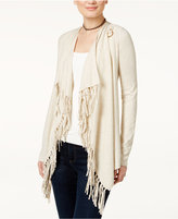 INC International Concepts Open-Front Fringed Cardigan, Only at Macy's