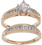 Cherish Always Lovemark Marquise-Cut Diamond Engagement Ring Set in 14k Gold (1/2 ct. T.W.)