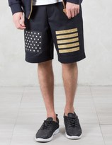 Palm Angels Glitter Flag Shorts
