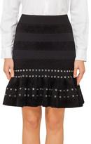 Alexander McQueen Eyelet Knit Mini Skirt