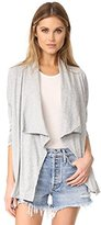 Velvet by Graham & Spencer Women's Cotton Slub Open Drape Cardigan