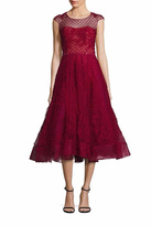 Marchesa Cap Sleeve Dress