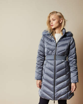 Ted Baker BELIIAA Long chevron padded coat