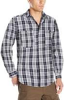 Wrangler Men's Wrinkle-Resistant Spread Collar Plaid Woven Shirt