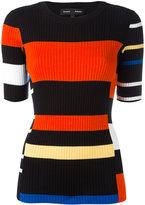 Proenza Schouler striped ribbed sweater - women - Cotton/Silk - M