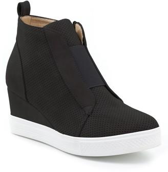 Catherine Malandrino Sabra Perforated Wedge Sneaker