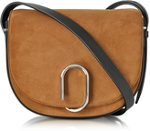 3.1 Phillip Lim Alix Maple Suede and Black Leather Saddle Crossbody