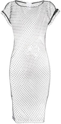 Patrizia Pepe Short-Sleeve Sheer Dress