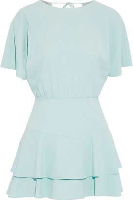 Alice + Olivia Palmira Tiered Crepe Mini Dress