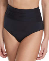Trina Turk Key Solids Shirred High-Waist Swim Bottoms