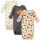 Hudson Baby Gray Forest Gown Set - Infant