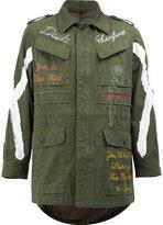 Miharayasuhiro printed field jacket - men - Cotton - 46