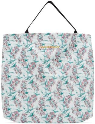 Charles Jeffrey Loverboy White Large Blooms Tote Bag