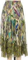 Dries Van Noten Printed Bohemian Skirt