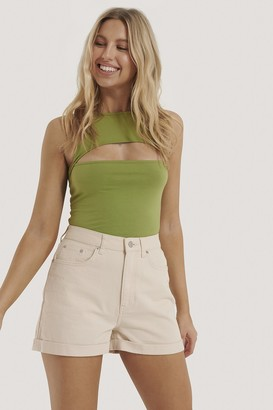 NA-KD Cut Out Cropped Top