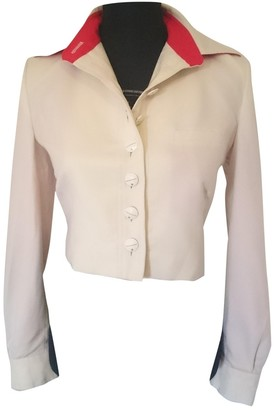JC de CASTELBAJAC Ecru Wool Jacket for Women