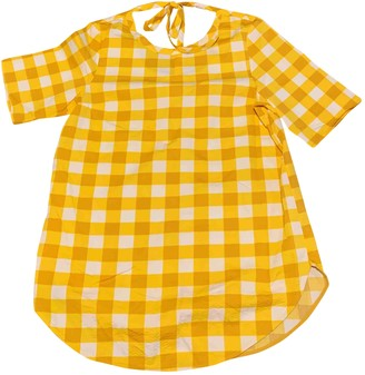 Cos Yellow Cotton Top for Women