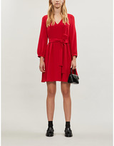 Claudie Pierlot Roseane bow-detail crepe mini dress